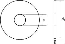 Шайба DIN 1052 - размеры, характеристики.
