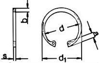 Кольцо DIN 472 - размеры, характеристики.