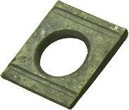 DIN 6918 — шайба клиновая квадратная косая с двумя прорезями (проточками).