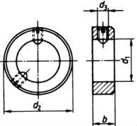 Кольцо DIN 705 B - размеры, характеристики.