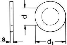 Шайба DIN 7349 - размеры, характеристики.