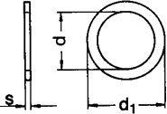 Шайба DIN 988 - размеры, характеристики.